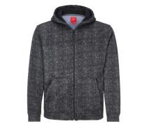 Outdoor-Jacke in Strickoptik schwarz