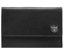 Classic Geldbörse Leder 15 cm schwarz