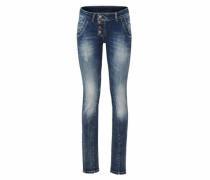 Jeans im Used-Look blue denim