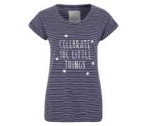 T-Shirt 'Liv Celebrate' blau