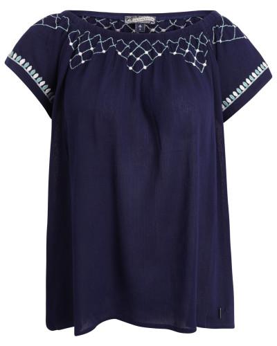 Shirt marine / azur / weiß