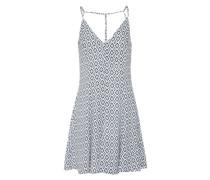 Sommerkleid 'easy Strap' blau / weiß