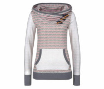 Kapuzensweatshirt basaltgrau / rosa / weiß