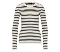 Pullover aus Wolle schwarz / weiß