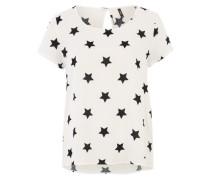Blusenshirt 'Onlfirst' schwarz / weiß