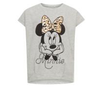 Oberteil mit kurzen Ärmeln Minnie Mouse braun / grau / schwarz