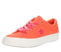Sneaker 'One Star' koralle / weiß