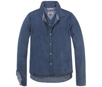 Bluse 'thdw Shirt L/S 33 Soid' blue denim