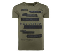 Do-Ver T-Shirt mit Print Artwork grün