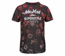 T-Shirt pastellrot / schwarz