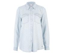 Jeansshirt mit Punkten rauchblau