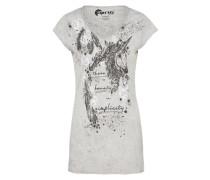 Bedrucktes Shirt 'noemie_Unicorn' hellgrau