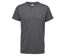 T-Shirt Rundhalsausschnitt- graumeliert
