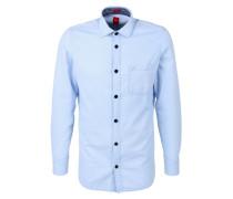Slim: Oxford-Hemd mit Chambray blau