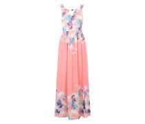 Maxi Dress 'Floral' mischfarben / koralle