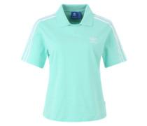 Poloshirt mit Bruststickerei türkis / mint