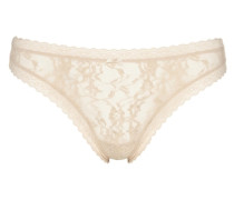 Slip Signature Lace Thong beige