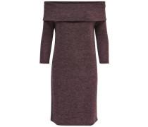 Einfarbiges Kleid mit langen Ärmeln braun