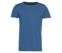 T-Shirt in Garment Dyed 'Kendrick' blau