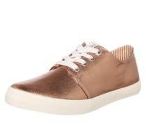 Sneaker im Metallic-Look rosé / weiß