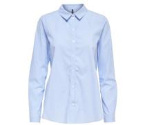 Detailreiches Langarmhemd blau