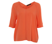 Blusenshirt mit 3/4-Arm orange