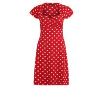 Jerseykleid im Fifties-Style rot