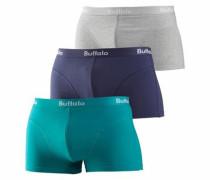 Baumwoll-Hipster (3 Stck.) blau / türkis / hellgrau