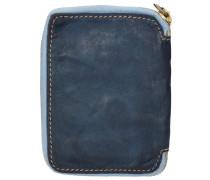 Sequoia Geldbörse Leder 10 cm taubenblau