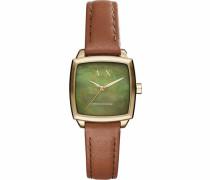 Quarzuhr 'ax5451' braun / gold / grün