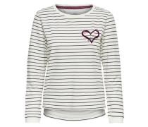 Bedrucktes Sweatshirt schwarz / weiß