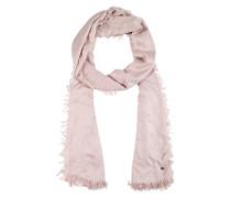 Schal mit eingewebtem Muster rosa