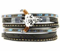 Armband »Bull 6386« gold / basaltgrau / silber