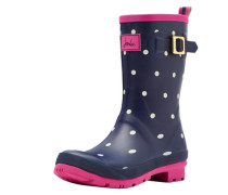 Gummistiefel 'mollywelly' navy / pink