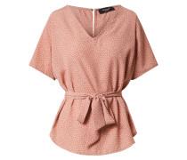 Shirt rosé / weiß / schwarzmeliert