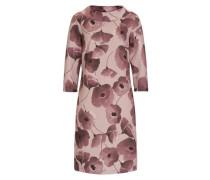 Kleid mit floralem Druck rosé