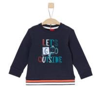 Sweatshirt mit Artwork nachtblau / petrol / dunkelorange / weiß