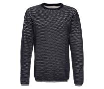 Sweater 'O-Neck Texture Knit' blau