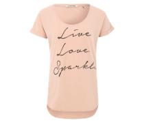 Print-T-Shirt 'Sparkle' pink