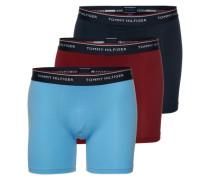 3er Pack 'Boxer brief premium ess' blau / rot