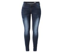 Skinny Jeans 'Dark Destroyed' blau