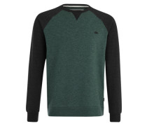 Sweatshirt 'Everyday Crew' grau / grün