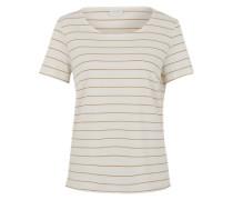 T-Shirt 'Vitinny' mit Lurexstreifen creme / goldgelb