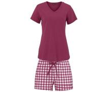 Shorts in klassischem Karo-Bund lila