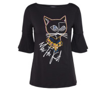Shirt mit Halbarm 'dubai' mischfarben / schwarz