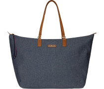 TOMMY HILFIGER Tommy Hilfiger Taschen »POPPY CHAMBRAY LARGE TOTE« blau