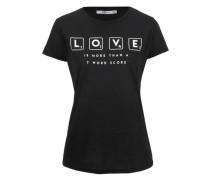 T-Shirt 'liloza' schwarz / weiß