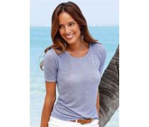 Shirts (2 Stück) blau / naturweiß