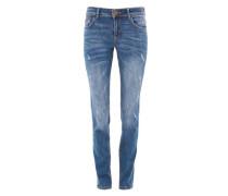 Shape Slim: Destroyed-Jeans blue denim