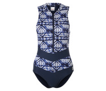 Shaping Badeanzug mit Zipper dunkelblau